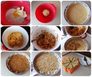 jablkov-broskyňový koláč fotorecept