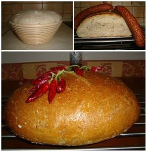 kváskový špaldový chlieb