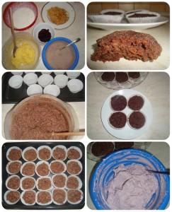 čučoriedkový cupcake fotopostup