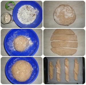 špaldový koreňový chlieb fotopostup