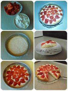 jahodovo-tvarohový koláč