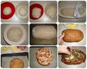 zapečený kváskový chlieb fotopostup