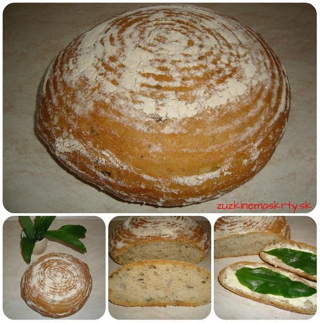 Špaldový chlieb s medvedím cesnakom