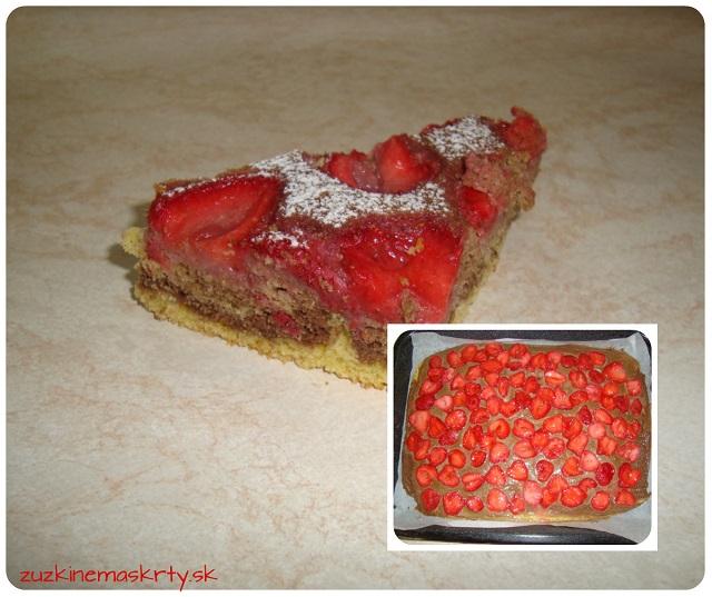 Bezlepkový jahodový koláč