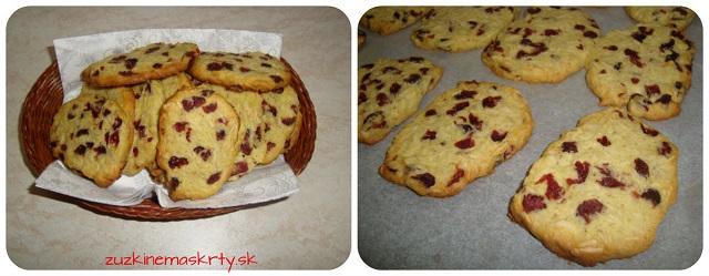 Mandľovo-brusnicové cookies