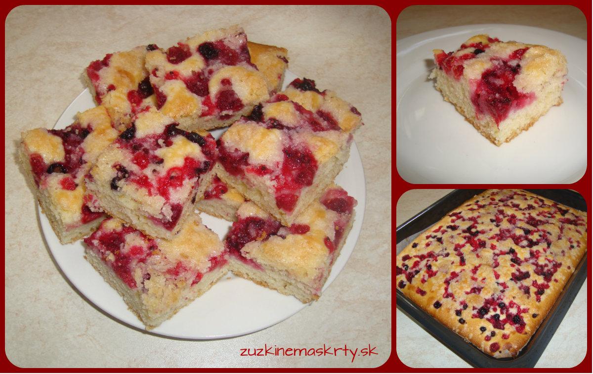 Malinovo-ríbezľový koláč
