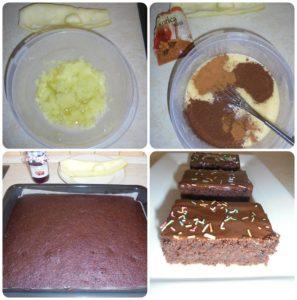 cuketový špaldový koláč fotopostup