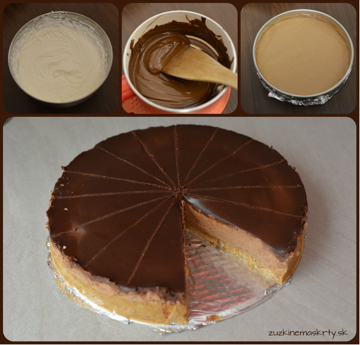 Čokoládový nepečený cheesecake