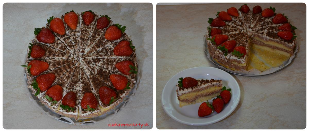Piškótovo-pudingová torta