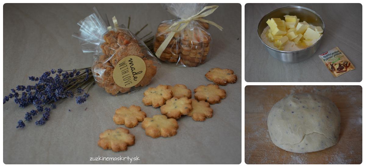 Levanduľové keksíky